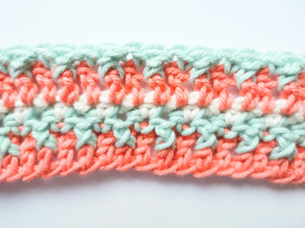textured stitch crochet pattern step 2