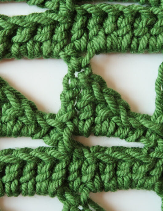 triangles lace stitch pattern