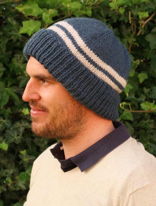 Alex men's hat knitting pattern