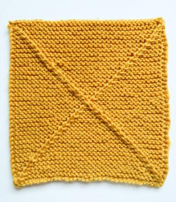 X marks the spot blanket square knitting pattern