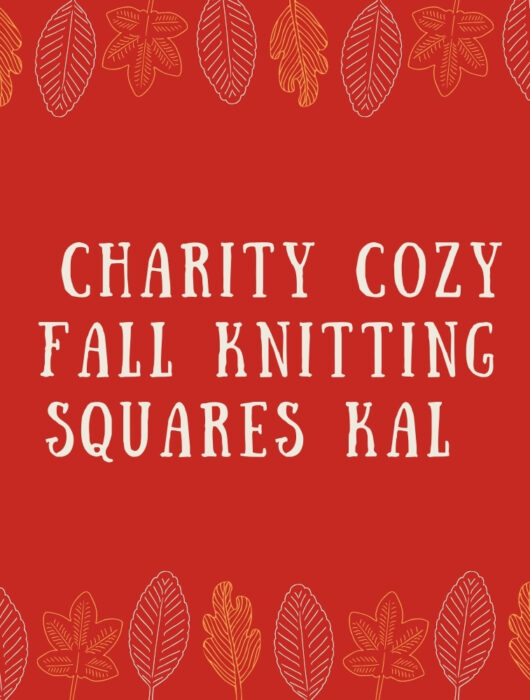 Charity cozy fall knitting squares blanket KAL