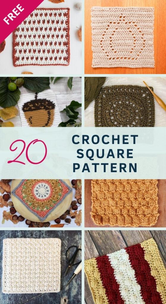 Charity Cozy Fall Crochet Blanket MAL - 20 Free crochet square patterns