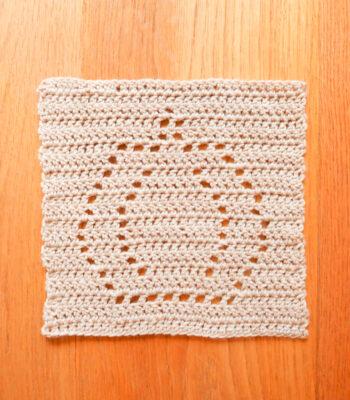 Pumpkin crochet square pattern for blankets