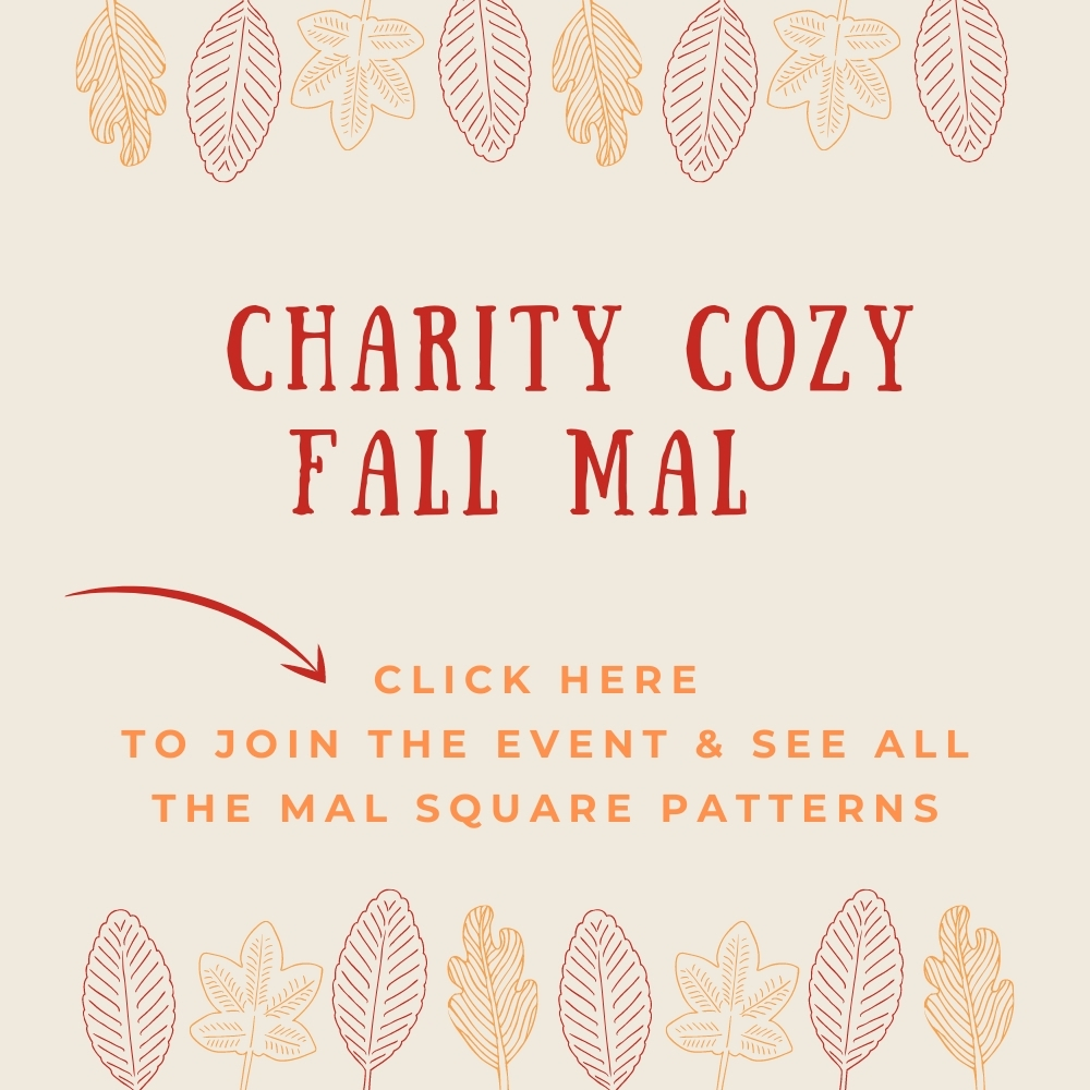 Click here to see all 20 Charity Cozy Fall MAL knit square patterns