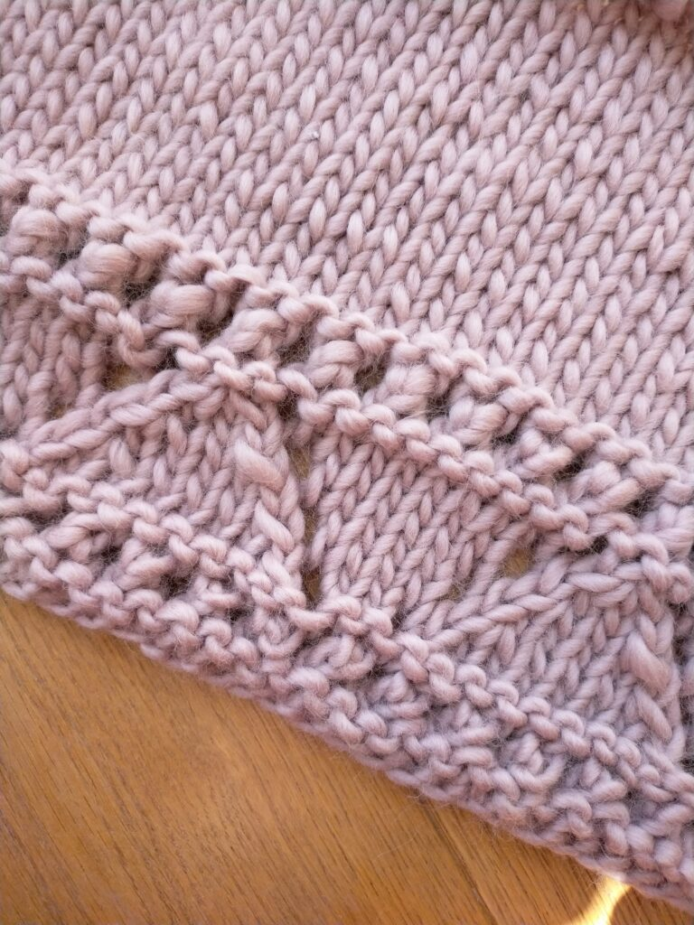 Lace detail on this chunky knit cardigan pattern