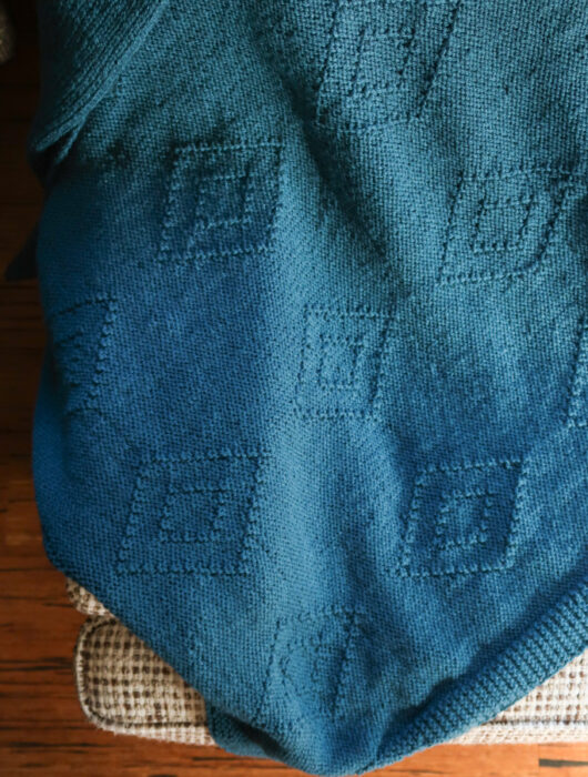 diamond easy blanket knitting pattern FREE
