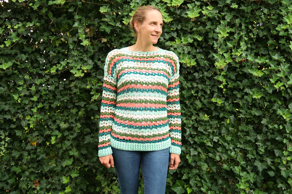 Finished summer sweater crochet pattern