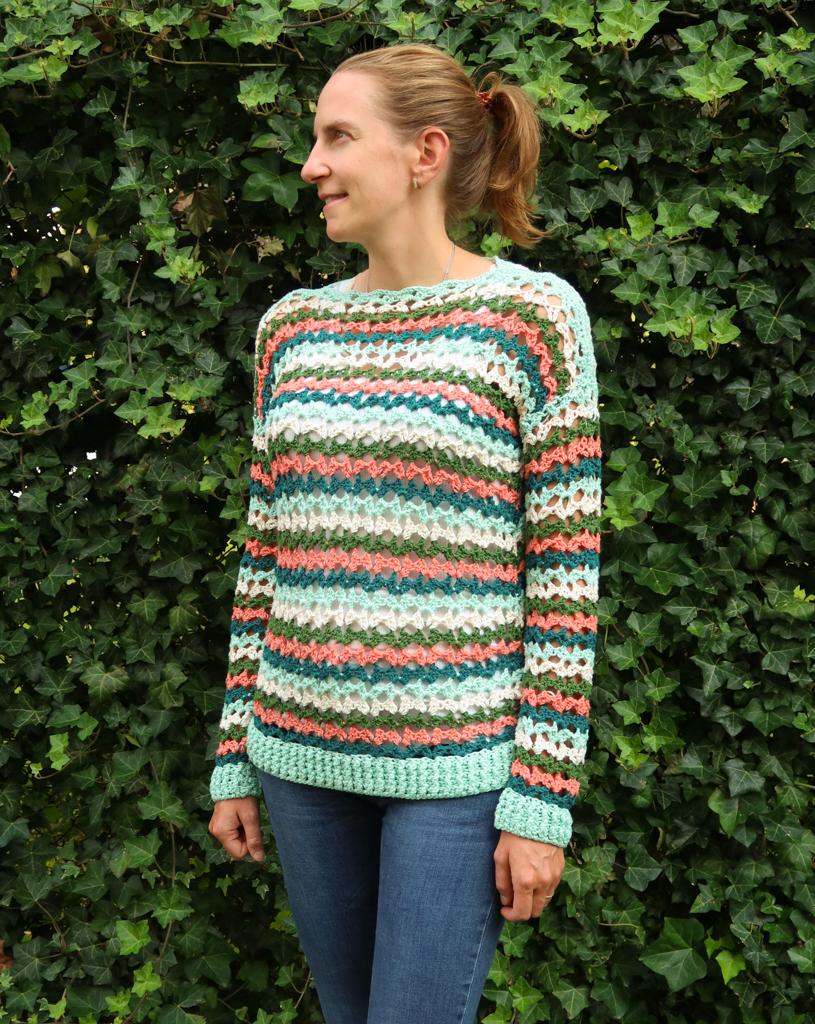 caroline summer sweater crochet pattern