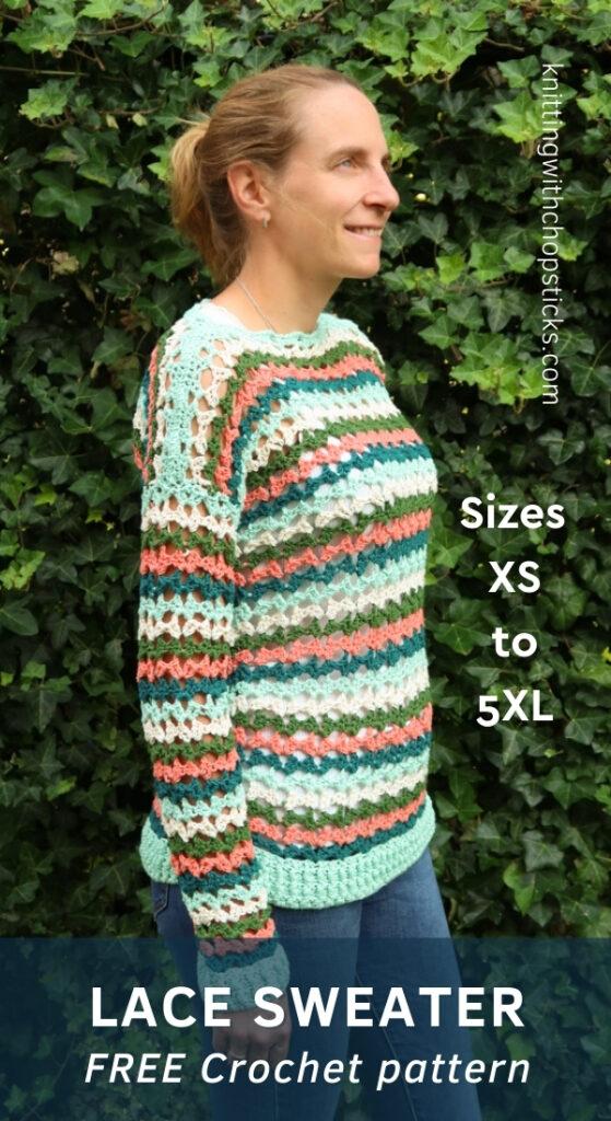 Caroline free sweater crochet pattern